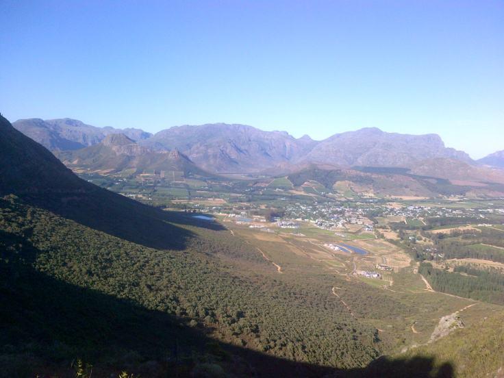 View over Franschhoek