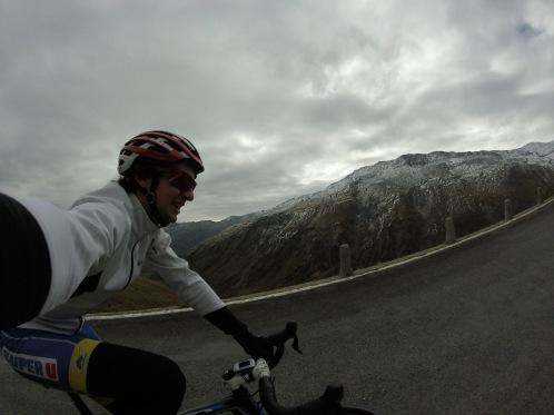 Nearing the top of the Furkapass.